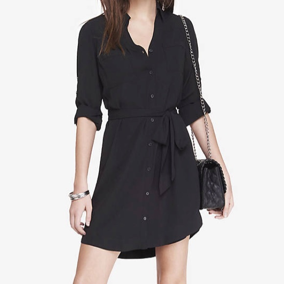 aa5fdf28493f Express Dresses & Skirts - Express black button down shirt dress